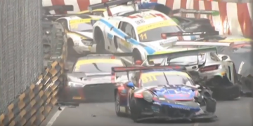 Mega Crash FIA Grand Prix Macau